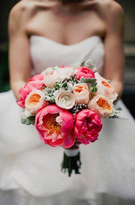 wedding bouquet coral peonies bouquets mari 233 es