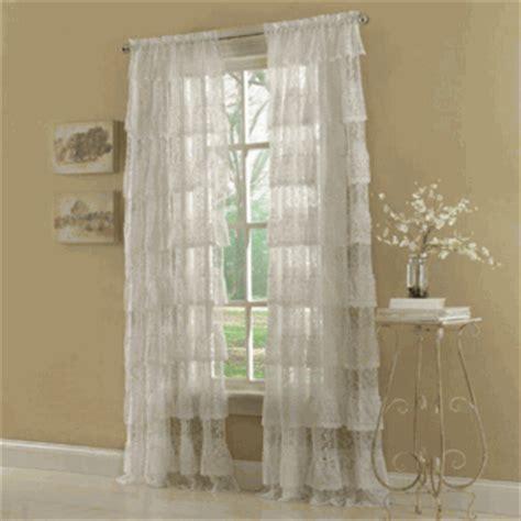 lace curtains priscilla ruffled layered curtain valance