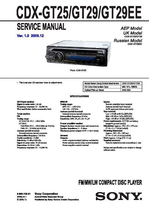 sony cdx gt25 wiring diagram electrical wiring diagram pdf floor plan pdf elsavadorla