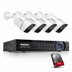 Tmezon Security Ultra 4k Camera System With 4ch 8mp Bullet