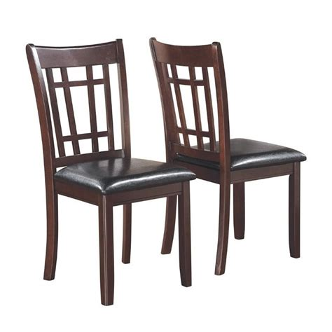 coaster lavon faux leather dining chair in espresso 102672