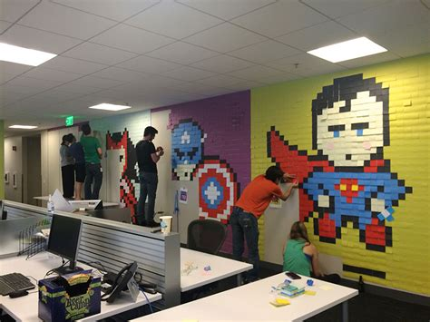post it bureau worker uses 8 024 post it notes to turn boring office