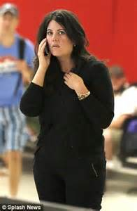 No Wonder She Looks Tired Monica Lewinsky Jets Into LA After Rubbing Shoulders With Royalty At