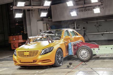 crash test si鑒e auto 2014 mercedes s class crash test side impact indian autos