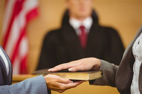 oath courtroom court swearing