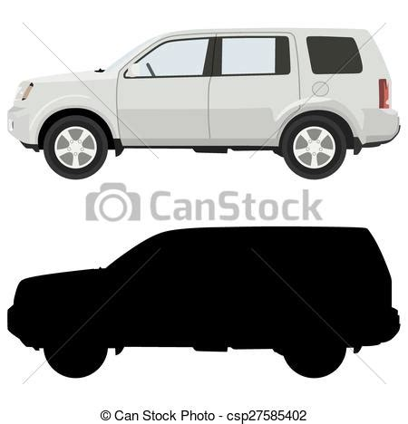 jeep off road silhouette white suv on a white background with a silhouette