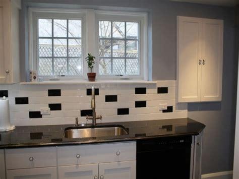 backsplash tile ideas for small kitchens black and white subway tile backsplash ideas for