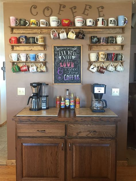 Does caffeine get you going in the morning? Coffee Bar Ideas for Kitchen | Lures And Lace