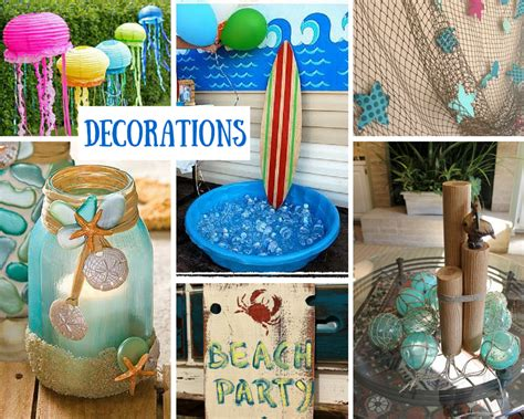 beach theme birthday party ideas beach party decorations