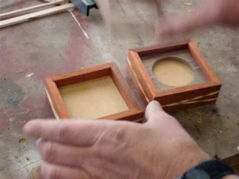 scrap wood project build  picture frame box pt youtube