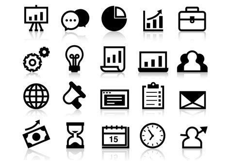14701 business icon vector business grow up icons vector free vector