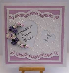 Spellbinders Die Cut Wedding Card
