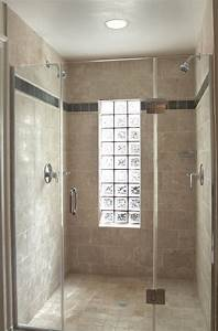 Glass block window in shower bathroom with curbless epoxy for Windows for bathroom showers