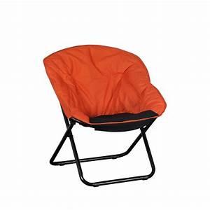 Fauteuil De Jardin Pliant : fauteuil pliant shine orange noir tabouret de bar ~ Dailycaller-alerts.com Idées de Décoration
