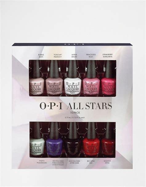opi  stars mini  pack nail polish gift set asos