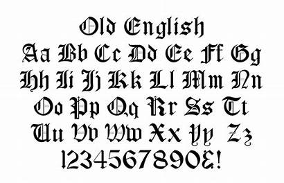 Fonts Font English Standard Numbers Calligraphy Screen