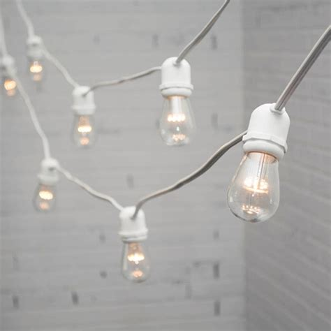 bistro string lights white wire the lighter side