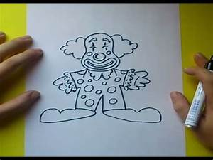 Como dibujar un payaso paso a paso 4 How to draw a clown 4 YouTube