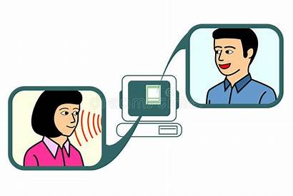 Chat Clipart Chatting Application Couple Via Cliparts