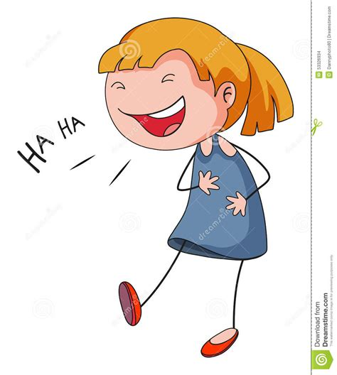 Girl Laughing Hysterically Clip Art