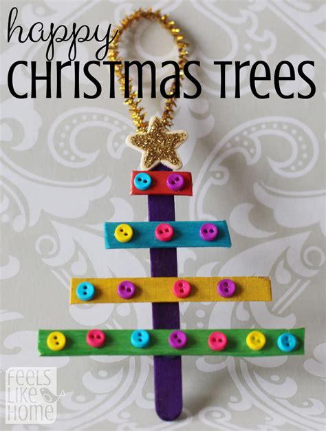 preschool christmas ornaments popsicle stick christmas trees