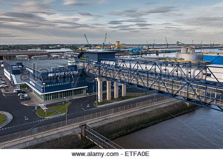 Car Parking Hull Ferry by Cranes At Hull Stock Photo Royalty Free Image