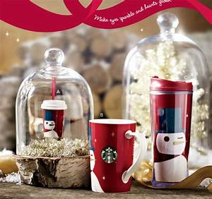 STARBUCKS CHRISTMAS GIFT IDEAS 2012 – WHITE GREEN RED GOLD