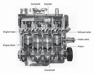 Cutaway Diagram Of A Four Cylinder Gasoline Engine Jpg