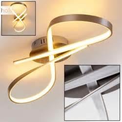 design deckenleuchten wohnzimmer arlena deckenleuchte led nickel matt h167336 le de