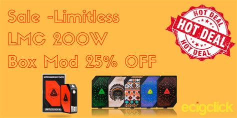 73335 Limitless Mod Co Coupon Code by Flash Sale 25 The Limitless Lmc 200w Box Mod