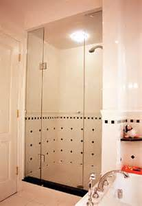 Hinged Glass Shower Doors by Frameless Shower Door With In Line Panel Artistcraft Com