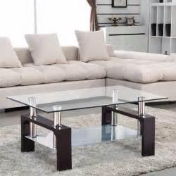 glass coffee table shelf rectangular chrome walnut wood living room furniture ebay