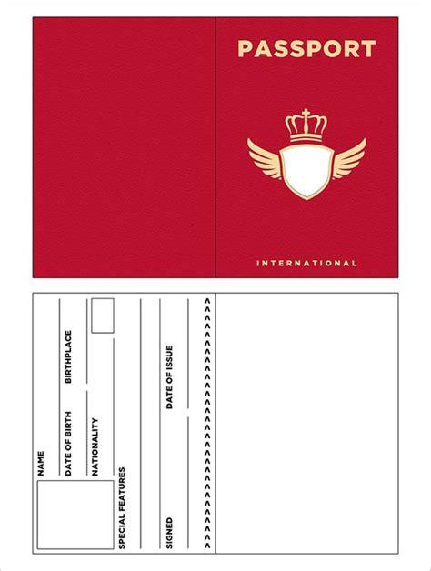 passport template templates gratis paspoort and sjablonen on