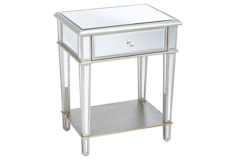 Roosevelt Mirrored Nightstand, Silver, From One Kings Lane Walnut King Size Bed With Drawers Oven Broiler Bottom Drawer Fisher And Paykel Cool Installation Tool Box For Suv Black Dresser Green Magic 4 Replacing Wood Bottoms Waterloo 3 Cart