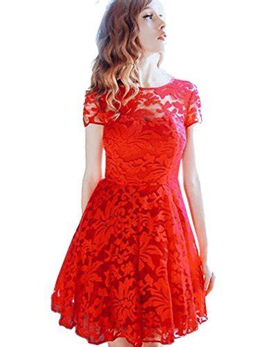 elegante kleider knielang rot stylische kleider fuer