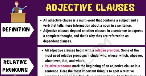 adjective clause definition   examples
