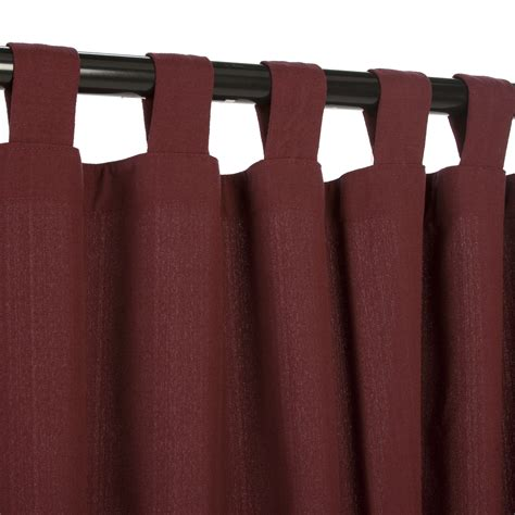 wine weathersmart outdoor curtain with tabs on sale