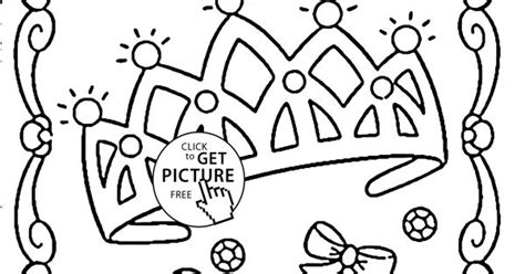 Princess Crown Coloring Page For Kids, For Girls Coloring