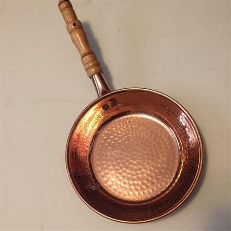 hammered copper skillet pan   diameter