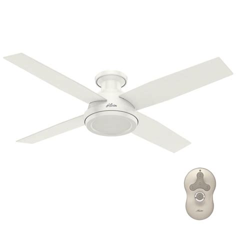 hunter low profile ceiling fan with light hunter dempsey 52 in low profile no light indoor fresh