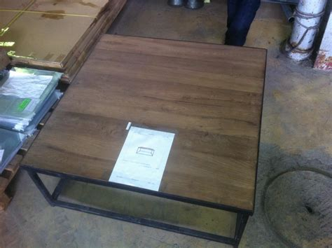 table basse bois carre table basse carr 233