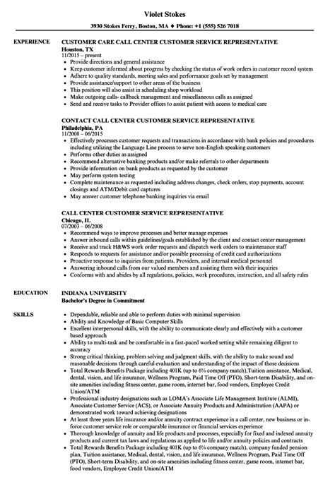 call center customer service representative resume velvet jobs