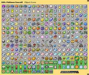 Game Boy Advance - Pokémon Emerald - Item Icons - The ...
