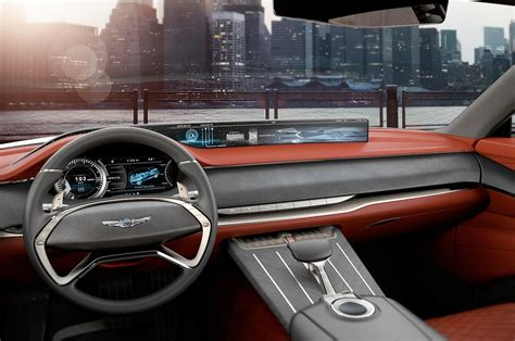 genesis gv fuel cell concept suv interior motortrend
