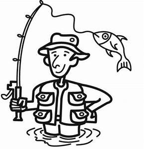 Ausmalbild Sport Angler Kostenlos Ausdrucken