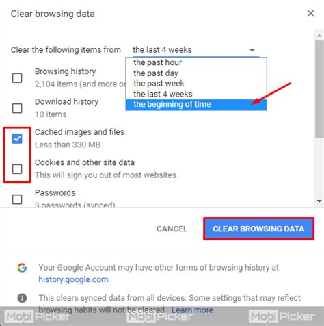 how to fix err connection reset in chrome mobipicker