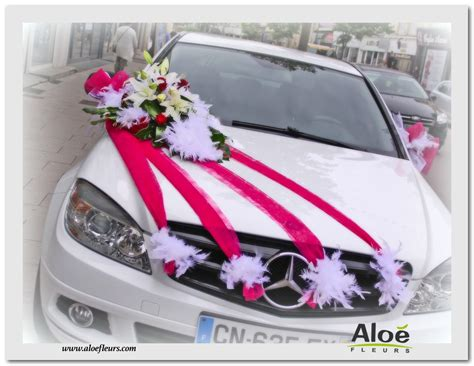 decoration voiture de mariee d 233 coration florale de voitures de mari 233 s en photos