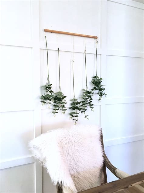 diy eucalyptus wall hanging harlow thistle home