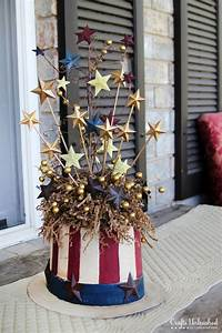 Patriotic, 4th, Of, July, Crafts, Uncle, Sam, Centerpiece