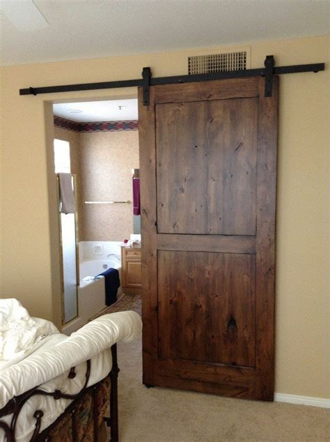 distressed knotty alder sliding barn door porter barn wood